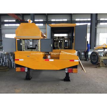Une machine de construction de toiture en arc de travée