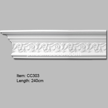 Rosette design PU Crown Molding