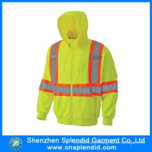 Custom Men Hi Vis Fire Resistant Hoodies with Reflective Tripes