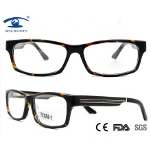Fashion Acetate Front with Real Wood Temples Optical Frames