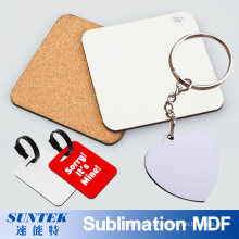 Sublimation Printable Blank MDF Key Ring Keychain