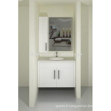 Australia Style Modern Bake Painting Lacquer Ensemble de cabinet de toilette mural avec comptoir en quartz à vendre