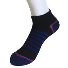 Medio cojín polivinílico no mostrar mediados de rayas calcetines (jmpn11)