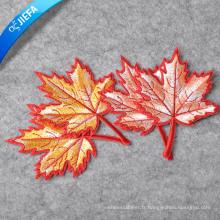 La broderie faite sur commande de logo de marque de tissu cousent sur Applique / badges