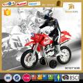 Motocicleta de plástico de mini juguete de potencia de fricción con luz e IC