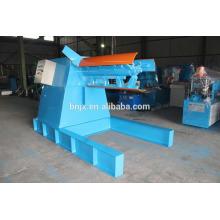 5T bobina de acero hidráulica máquina de desbobinadora con coche de carga para la venta, desbobinadora hidráulica con el coche de la bobina