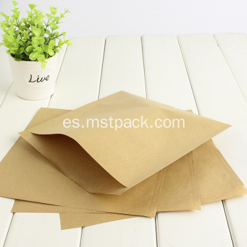 Bolsa plana de papel Kraft simple sin cremallera
