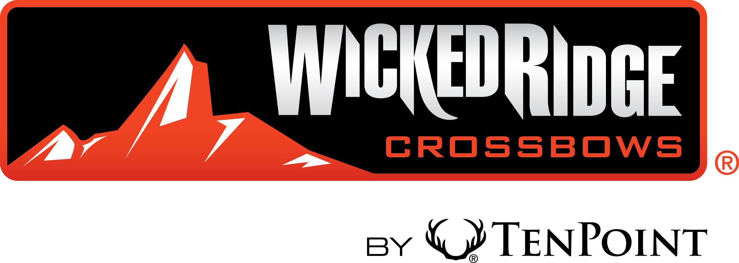 Horizontal wicked ridge logo