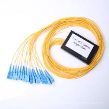 sc apc upc 1x4 1x8 1x16 cassette type plc fiber optic splitter
