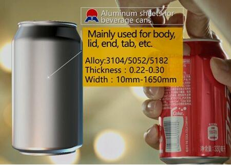 5182 aluminum alloy coils prices for cans end