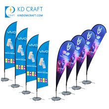 Factory direct sale custom CMYK printing brand mobile phone music stand banners for promotion