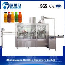 PLC Control automático de la máquina de llenado de bebidas de jugo