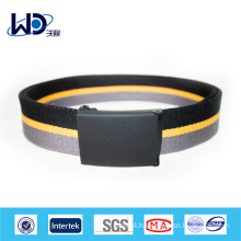 2014 Popular mens fabric belts flat buckle belt