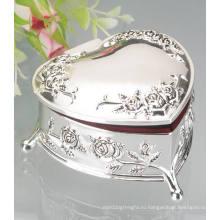 Серебряная металлическая коробка для ювелирных изделий, коробка из металлического ожерелья