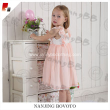 wholesale pink cherry embroidered smocked dress