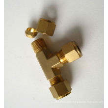 Brass pipe fitting Tube Inserting Union Tee