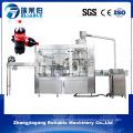 Bebida gaseosa carbonatada 3 en 1 máquinas de línea de llenado