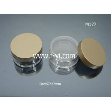 Small Golden Round Loose Powder Container