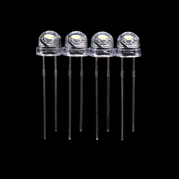 6000K 6500K 5mm Blanco LED Sombrero de Paja 6-7lm