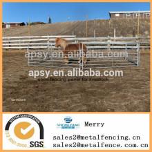 barato metal tubular que sostiene yardas de la valla del cercado de la valla de la valla usada cerca del panel para el ganado