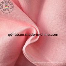 Linho tecido de rayon tingido - cor rosa (qf13-0759)