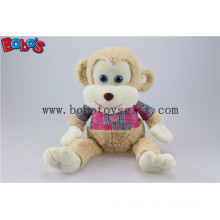 CE Approved Super Soft Stuffed Monkey Animals with Pink T-Shirt Bos1162