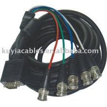 10M HD15 broche VGA mâle à 5 BNC RGBHV câble de rupture