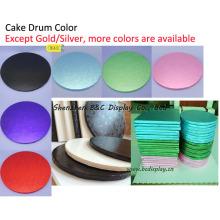 Coloridos y encantadores pastel de jabalíes, tambores de pastel, bandeja de pastel, platos de pastel para pastelerías (B & C-K069)