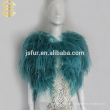 La piel del hotsale de la boda arropa el mantón nupcial genuino de la piel de la pluma del orstrich