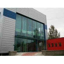 Moderne, ungewöhnliche, thermisch isolierte Sektion Doppelte Glaswand