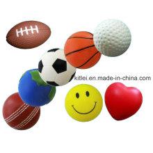 Promocional Impreso Smiley Face PU Foam Stress Ball
