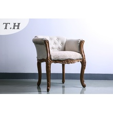 Europen Style Chair by Chenille and Linen Fabric