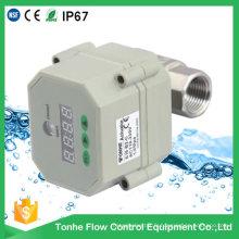 """1/2 """"Dn15 12V 24V Ss304 Valve à eau à commande électrique à bille motorisée avec minuterie"""