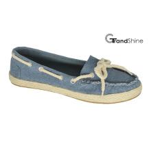 Frauen Casual Espadrille Canvas Flat Mocassin Schuhe