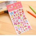 Custom adhesive cartoon 3D puffy sticker for kids