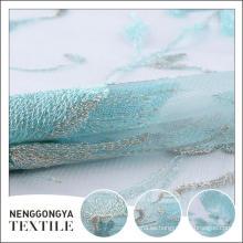 Oem service Designer bordado de tela suave y decorativa