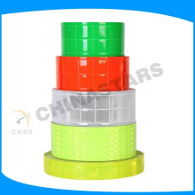 Fluorescente amarillo pvc micro prisma cinta reflectante