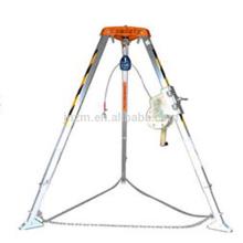 La mejor venta confinó el trípode caído del rescate de seguridad de la protección del espacio con el torno de elevación de la mano
