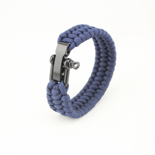 Stainless Steel U Shape Shackle Paracord Bracelet