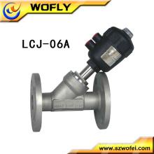Fornecedor chinês válvula de assento pneumático ângulo flange
