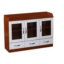 Armário de arquivo de escritório de 3 gavetas com trava de madeira