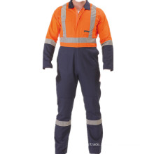 Multi function 2 TONE HI VIS COVERALL WITH HEAVY DUTY NYLON ZIPPER