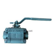 800lb 1500lb forgé en acier A105 fil NPT robinet à boisseau sphérique
