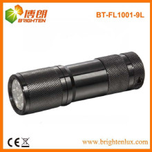 Fabrik Versorgung Chinesisch billig Aluminium Material 9 LED Taschenlampe, 9 LED Taschenlampe