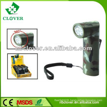 Aluminum led flashlight 12000-15000MCD led flashlight torch with strap