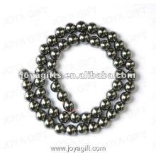 Perles rondes d'hématite magnétique en vrac de 8MM 16 po