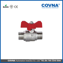 Thread ends Natural copper Brass natural Gas Ball Valve with Butterfly Handle