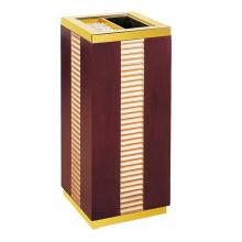Cubo de basura de madera para el vestíbulo (YW0060)