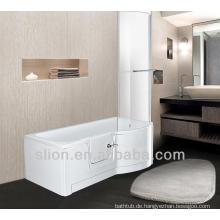 Moderne Spaziergang in Bad Acryl Badewanne mit Dusche
