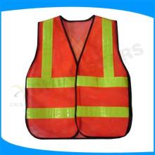 EN471 colete de segurança reflector vermelho de alta visibilidade